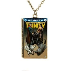 Jewelry - Dc Trinity Comic Book Cover Necklace
